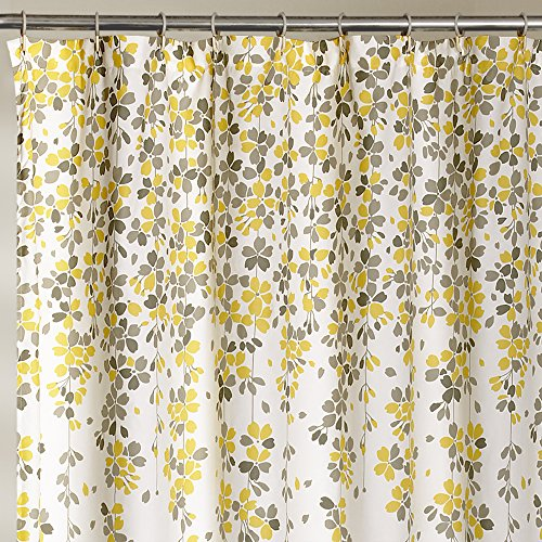 Flower Shower Curtain 182 x 182 cm Bathroom Decor Machine Washable ...