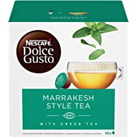 NESCAFÉ Dolce Gusto Marrakesh Style Tea, Tè Verde Aromatizzato alla Menta, 3 Confezioni da 16 Capsule (48 Capsule)