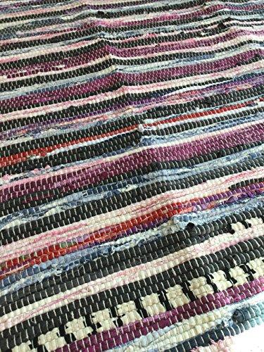 Rag rug, handwoven chindi (Swedish Rag Rug)