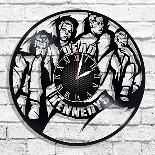 BombStudio Dead Kennedys Vinyl Record Wall Clock, Dead Kennedys Handmade for Kitchen, Office, Bedroom. Dead Kennedys Ideal Wall -