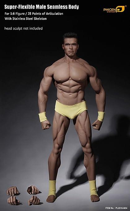 Amazon.com: Phicen 1/6 Scale Super Flexible Male Muscular Seamless ...