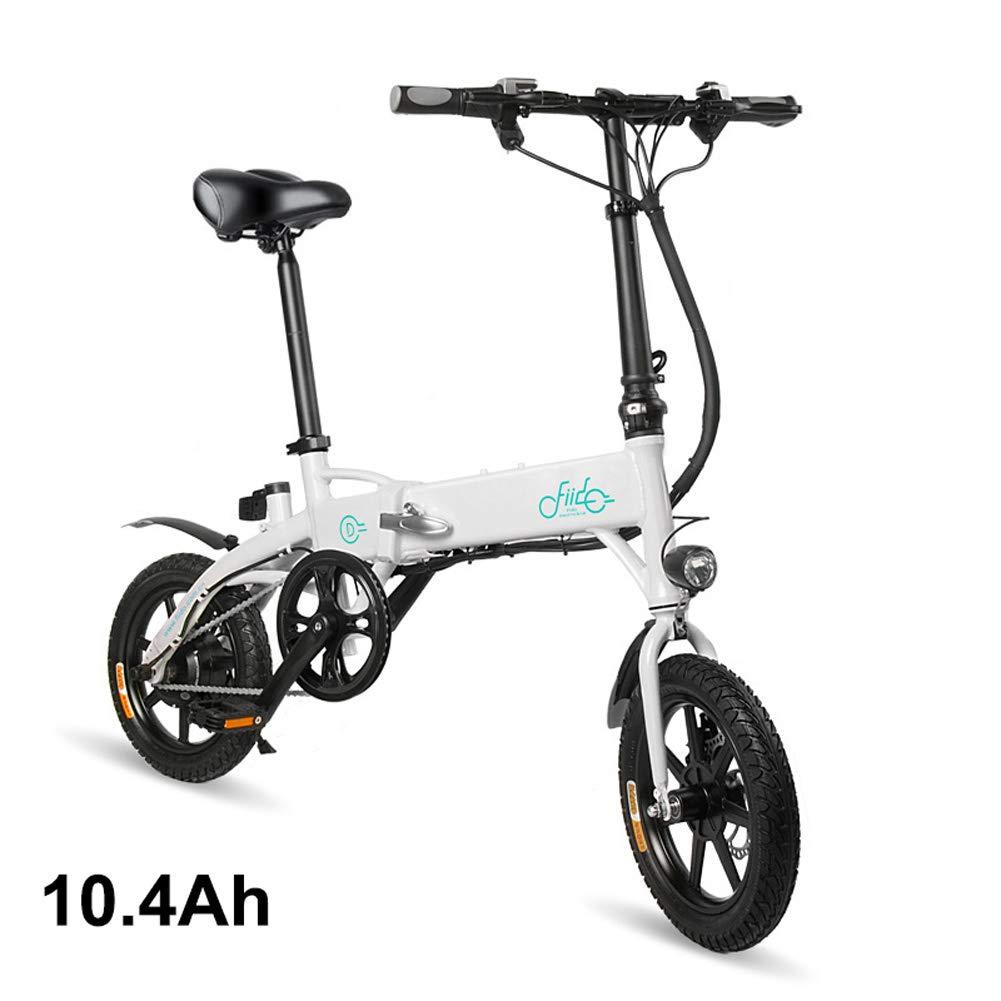 calidad de primera clase blancoo 10.4Ah Alextry Alextry Alextry - Plegable eléctrica portátil y Plegable para Bicicleta portátil y Ajustable para Ciclismo, blancoo, 7.8Ah  sorteos de estadio
