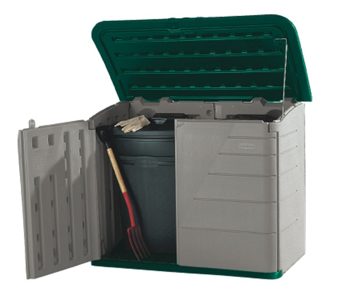 Delightful Garbage Storage #26 - Amazon.com : Rubbermaid 51-by-42-by-24-Inch Storage Shed #3747  (Discontinued By Manufacturer) : Garbage Can Storage Shed : Garden U0026 Outdoor
