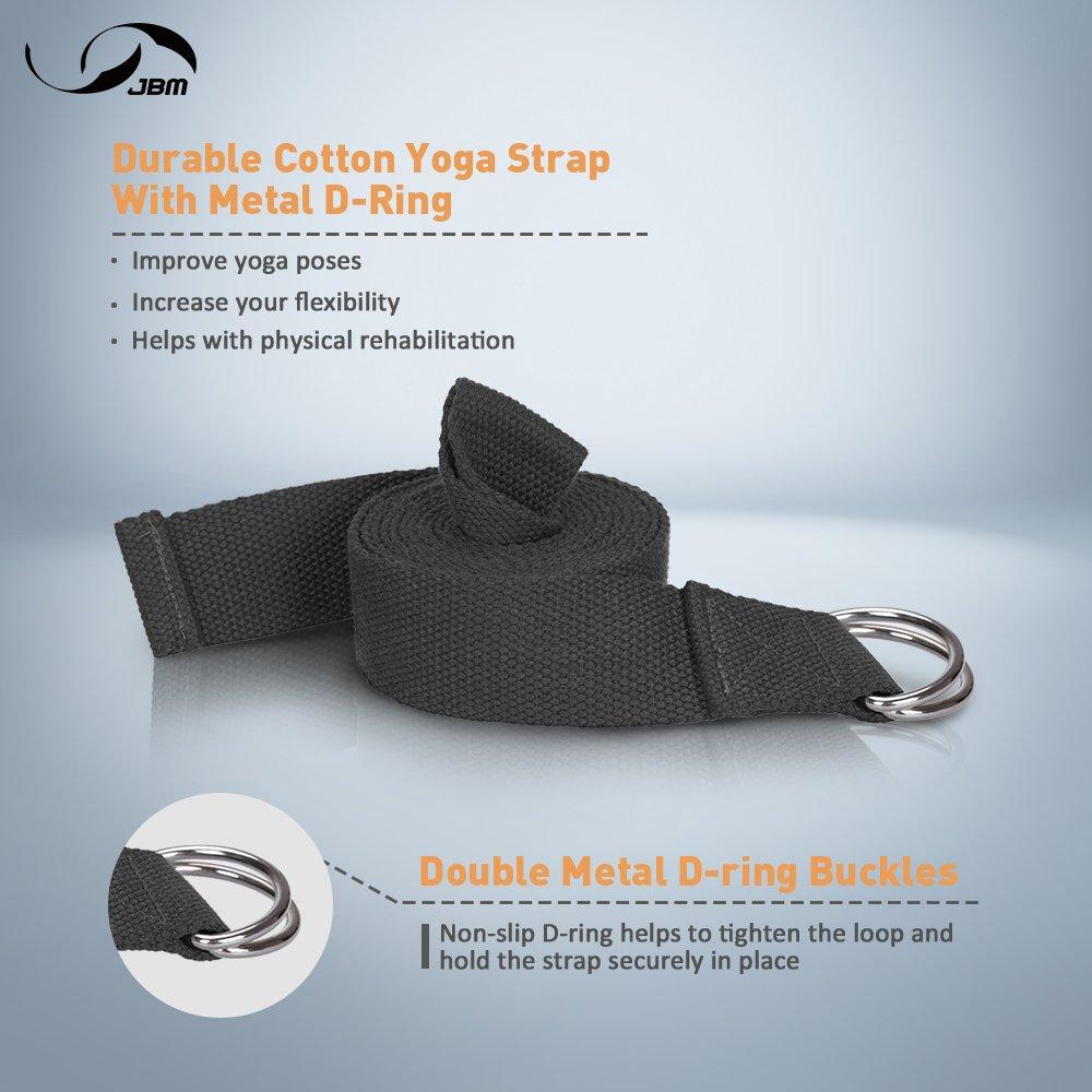 Amazon.com : JBM Yoga Block Plus Strap With Metal D Ring Yoga Brick Cork  Yoga Block 6 Colors   High Density EVA Foam Yoga Block To Support And  Deepen Poses, ...