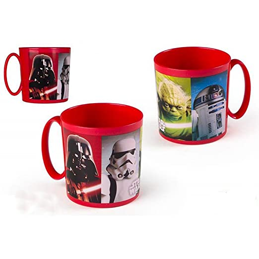Taza Star Wars Disney Taza Plástico Taza Niños microondas ...