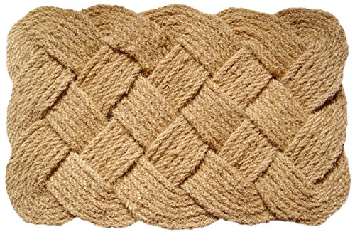 Entryways  Knot-Ical , Hand-Stenciled, All-Natural Coconut
