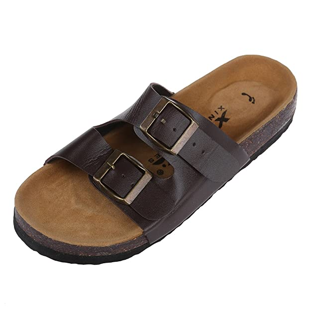 TOOGOO(R) Nuovi sandali in sughero Estivi Unisex Scarpe casuali dei pattini Dimensione 10 Marrone Hdr2oM2