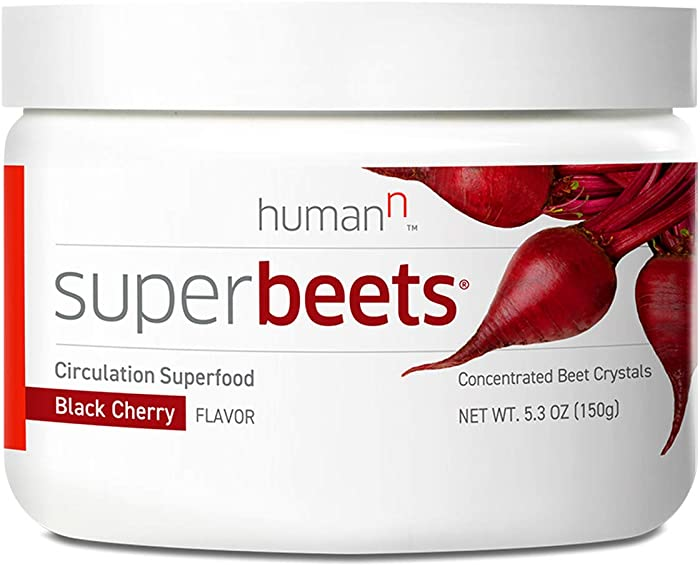 HumanN SuperBeets Circulation Superfood Concentrated Beet Powder Nitric Oxide Boosting Supplement (Black Cherry Flavor, 5.3-Ounce)