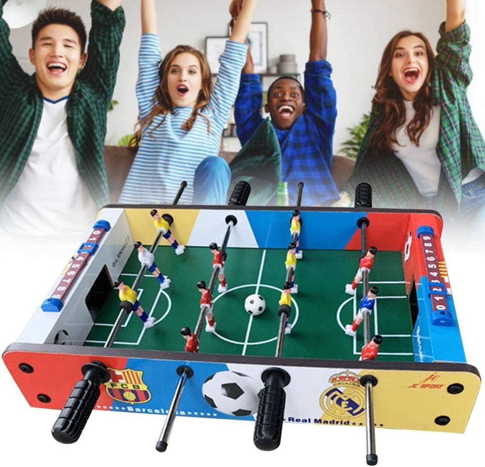Juego de fútbol de sobremesa: 4 filas de mesas portátiles, divertidas, mesa de futbolín Juego de juego de fútbol de mesa Presenta para niños, uso en interiores y exteriores, 51 x 31