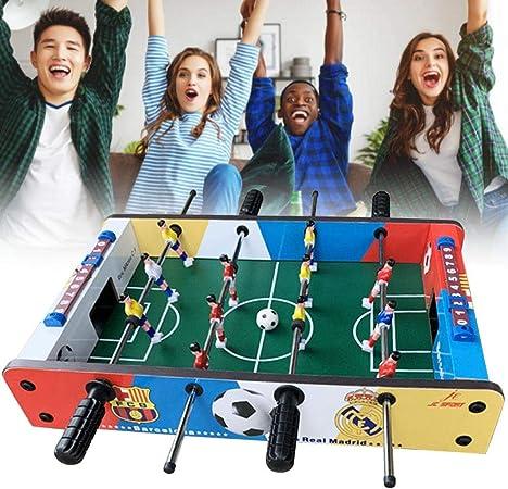 Juego de fútbol de sobremesa: 4 filas de mesas portátiles, divertidas, mesa de futbolín Juego de