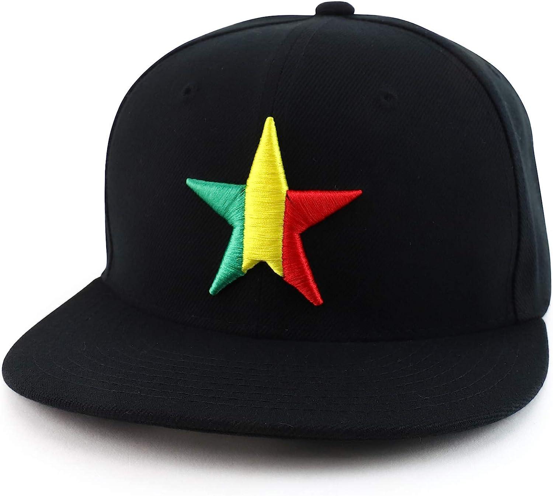 DECKY California Lone Star 3D Embroidered Flat Bill Snapback Cap