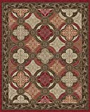 Cheap Mayberry Rugs BW31459 RED Brook Wood Area Rug, Red, 8′ x 10′