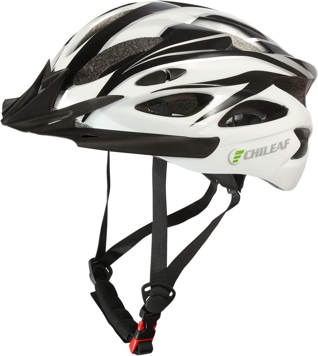 CHILEAF Jugend & Erwachsene Fahrradhelm CE EN1078, EPS-Körper + PC-Schale, Robust und Ultraleicht, mit Abnehmbarem Visier und Polsterung, mit...