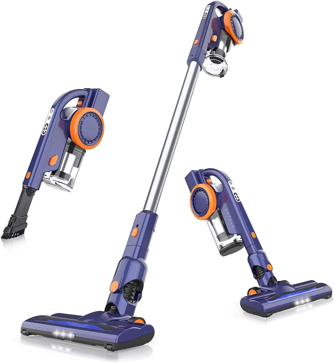 7. ORFELD EV679 Cordless Stick Vacuum Cleaner- Best Lightweight Vacuum Cleaner