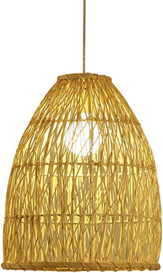 Rattan Ceiling Light Chandelier Simple Lamp Shades Weave Hanging Lighting UK