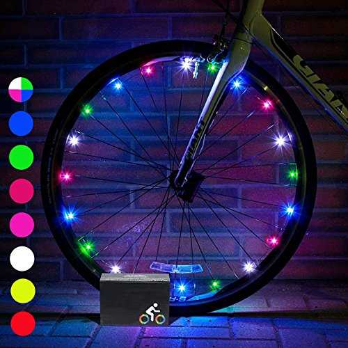 DIMY Bike Wheel Lights, Stocking Stuffer LED Bike Wheel Light for Boys Toys for 5-16 Year Old Boys 5-14 Year Old Boy Gifts for Teen Girl Outdoor Christmas Halloween Toys Multicolor TTB07