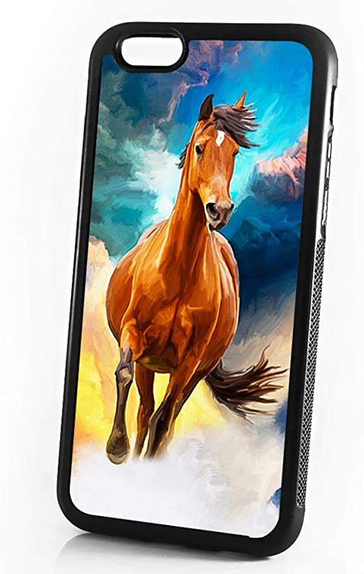 (for iPhone 8 Plus/iPhone 7 Plus) Durable Protective Soft Back Case Phone Cover - A11499 Horse