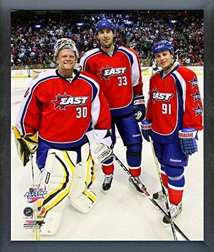 NHL Tim Thomas, Zdeno Chara and Marc Savard Boston Bruins All Star Game Action Photo (Size: 12