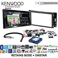 Volunteer Audio Kenwood DNX574S Double Din Radio Install Kit with GPS Navigation Apple CarPlay Android Auto Fits 2005-2013 Chevrolet Corvette, 2006-2009 Hummer H3 (Bose and Onstar)