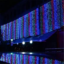 8 Modes Choice 10m X 4m 1280 LED Indoor / Outdoor Party String Fairy Wedding Curtain Light Christmas Xmas Decoration New Year Decoration 110v (Colorful)