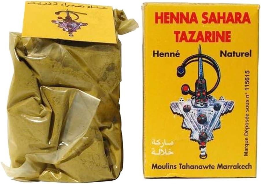 Sahara Tazarine - Henna Lawsonia inermis natural 100% pura para coloración temporal del cabello