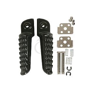 Tengchang Black Footrest Foot Pegs Rear For Kawasaki Ninja ZX6R ZX10R ER6F ER6N 650R ZX-6R