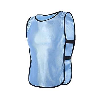 Petos de Entrenamiento Petos de Fútbol para Niños ( Color   Azul claro ) bede87e7fd4