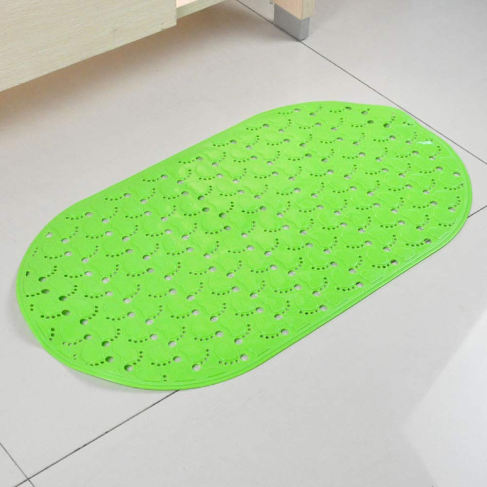 PLLP Oval Small Feet Bathroom Mats Bathroom Shower Mats with Suction Cups Fashion Cute,Green,6838cm