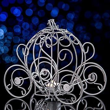 Amazon Com Shindigz Silver Fairytale Carriage Centerpiece Home