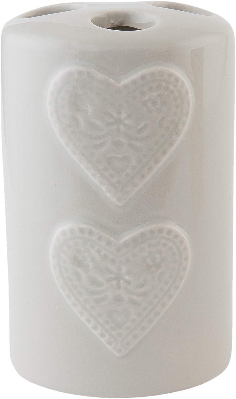 C/&E Tolles 4 teiliges Badezimmer Accessoires-Set aus Keramik Modell Tuscany Creme wundersch/öner Vintage Look mit verspielten Applikationen
