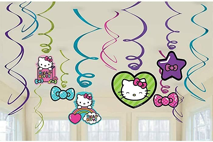 The Best Hello Kitty Rainbow Swirl Decor