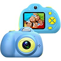 MQ Mini Kids Camera Gifts for 4-8 Year Old Girls, USB Charging Video Recorder Camcorder with 2 Inch HD Digital Screen Cute Silicone Shell for Children