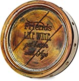 Pavilion Gift Company 22076 Friends Wine Barrel Plaque, 8-Inch