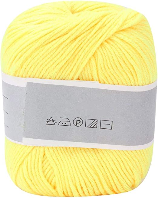 Hilo de algodón grueso y suave para tejer a mano, de fibra ...