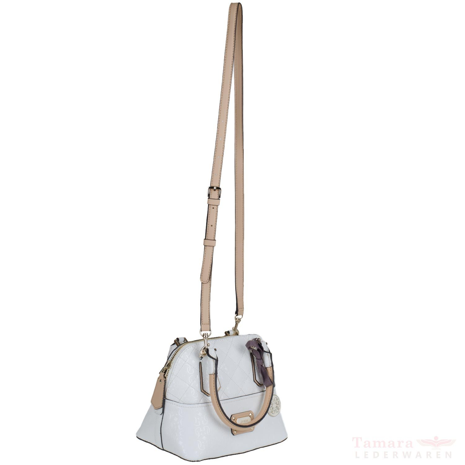 e849d4b070 Guess Sac à Main Romeo Amour Dome Satchel White: Amazon.co.uk: Shoes & Bags
