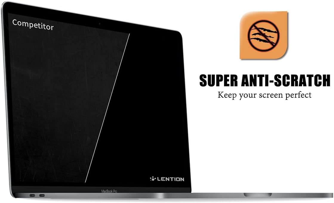 LENTION Clear Screen Protector Compatible with 2019 MacBook Pro 16-inch HD Protective Film with Hydrophobic and Oleophobic Coating Model A2141