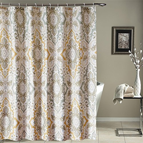 Shower Curtain Liner,Fabric Set with Hooks,Rings Welwo 75inches Long Shower Curtain Bathroom