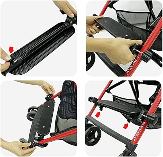 VIccoo Adjustable Stroller Footboard Pedal Foot Rest Baby Footrest Stroller Accessories Infant Carriages Feet Extension Pram Footboard