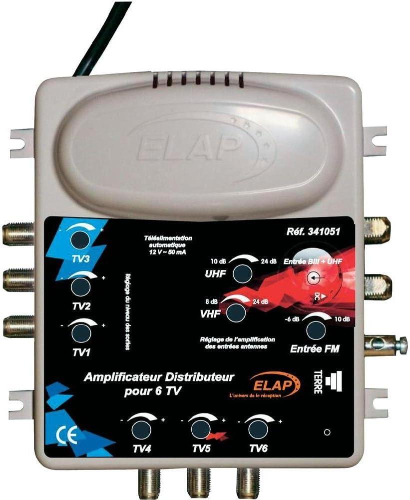 Elap 341051 - Amplificador TDT (2 entradas/6 Salidas ...