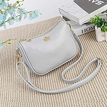 2cf3c01a59d3 Brand Shoulder Bag Crown Leather Women's Bags Designer Messenger Crossbody  Half Moon Handbags: Amazon.ca: Home & Kitchen