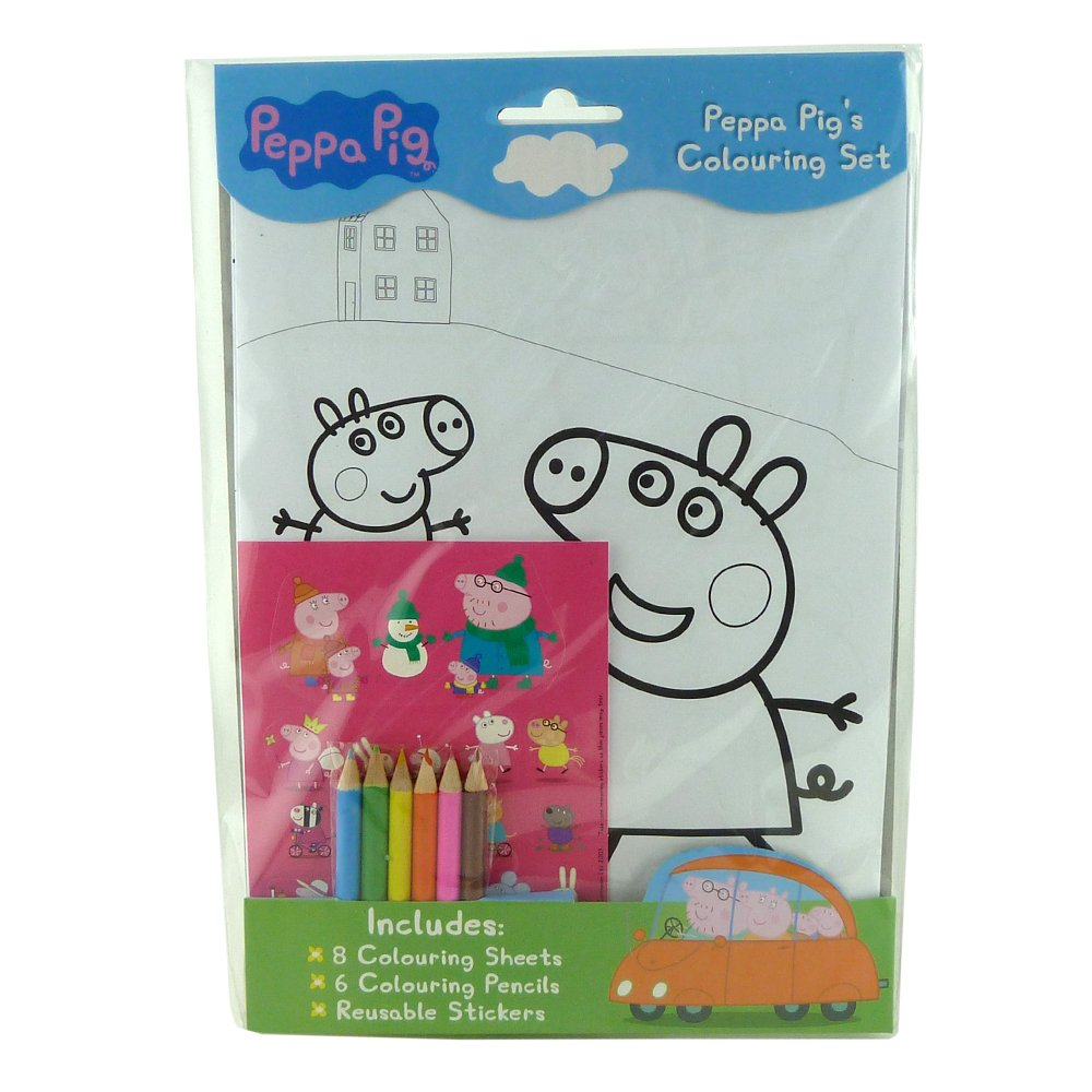 brand new peppa pig colouring book set colouring sheets