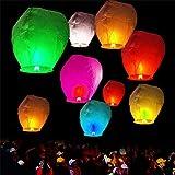 Rangbaaz Enterprises Flying Sky Lanterns for Diwali and Christmas Festivals (Set of 10)