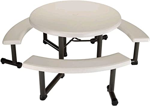 Lifetime Round Picnic Table and Benches