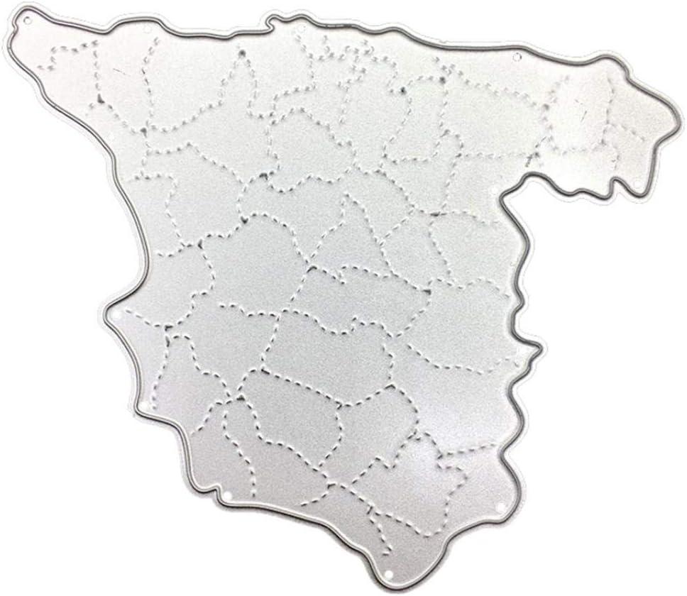 Plantillas de corte Mothcattl, mapa de España, troqueles de metal para hacer tarjetas, plantillas para manualidades, álbumes de recortes, tarjetas de papel, decoración de manualidades: Amazon.es: Hogar