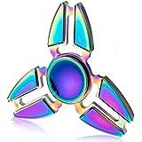 Spinner Fidget Jouet, CrazyFire Hand Spinner Stress Relief Toy, Coloré en Alliage d'Aluminium, Tri Fidget Hand Spinner pour Enfant/Adultes