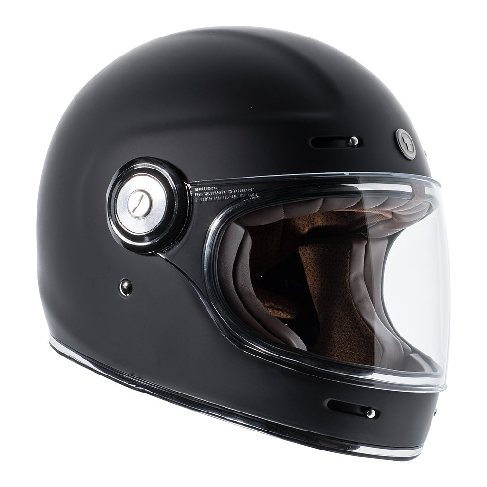 TORC Unisex-Adult T11523 Retro Fiberglass Full-Face Style Motorcycle Helmet (Matte Black, Medium), 1 Pack by TORC (Image #4)