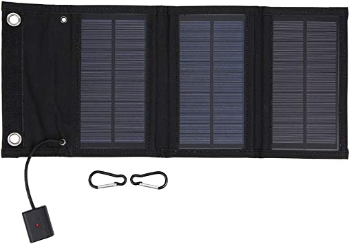 Panel Solar PortáTil de 15W, Pack Plegable Cargador Solar ...