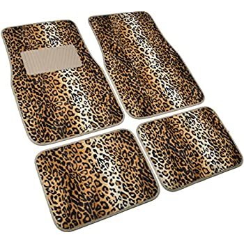 Amazon Com Leopard Print Car Carpet Floor Mats Automotive