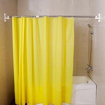BAOYOUNI extensible cortina de ducha ferrocarril polo barra de cortina de baño ventosa Ropa de toallas