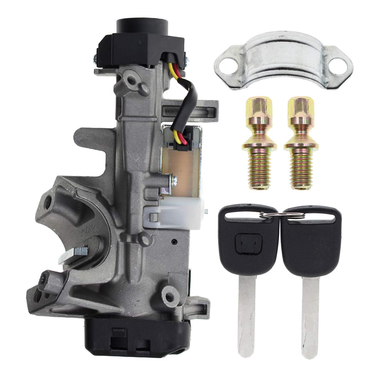 Amazon Com Autokay Ignition Switch Lock Cylinder 35100 Sda A71auto Trans With 2 Chip Keys For Honda Accord Civic Crv Odyssey Industrial Scientific